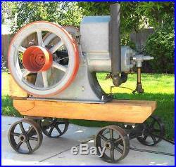 Antique Old Hit & Miss Gas Engine Cart Bolster Set Cast Iron Large Size
