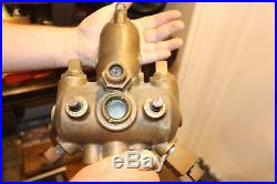 Antique Pat. 1915 Detroit Lubricator Brass Oiler Hit Miss Steam Engine Vintage