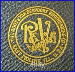 Antique Root & Vandervoort Engineering Hit Miss Gas Engine Factory Plate Catalog