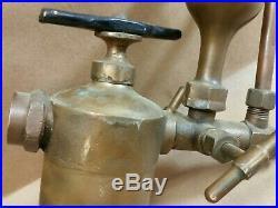 Antique Swift Lubricator Co. Oiler Brass Hit Miss Steam Engine L@@K