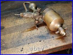 Antique Swift Lubricator Elmira NY Hit Miss Gas Engine Steam Brass Project Part