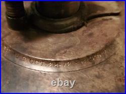 Antique Vintage Lonergan Wine Urn Glass Brass Oiler Hit Miss Engine
