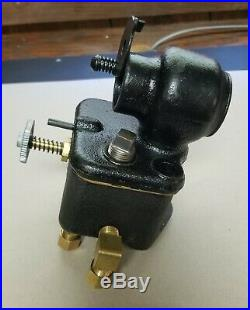 Antique hit and miss gas engine IHC M 1 1/2hp carb, single needle valve