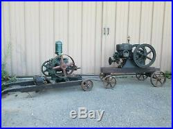 Antique stationary Engine, Hercules Hit and Miss with Pyramid Water Pump