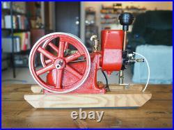 Associated Hit and Miss Breisch Model Engine runs on propane