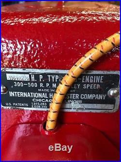 COMPLETE INTERNATIONAL McCORMICK-DEERING LB HIT-MISS ENGINE