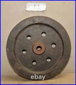 Cast Iron hit & miss engine fly wheel 16 dia 1 1/2 wide 55 lbs collectible F1