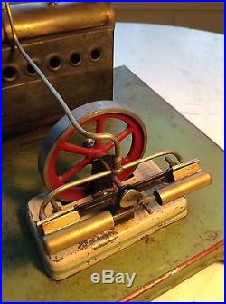 Circa 1900 Antique Steam Engine Toy Hit Miss J. C. Made in France