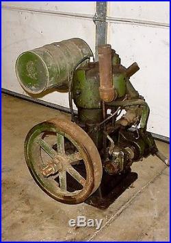 Cushman Hit Miss Gas Engine Vintage Antique Tractor Farm Machinery Binder