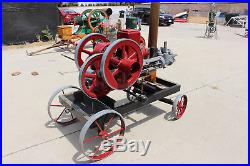 Domestic 2HP side-shaft chain driven water pump Hit N Miss engine on metal cart