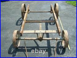 ELECTRIC WHEEL CO Hit Miss Gas Engine Cart Truck 3-5hp Magneto Oiler Steam WOW