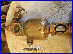 EMBLEM Brass Oiler Lunkenheimer Co Antique Steam Engine Hit & Miss