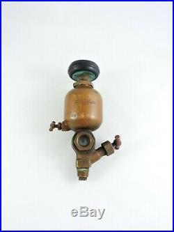 EMBLEM Brass Oiler Lunkenheimer Co antique Steam Engine hit & miss metal glass