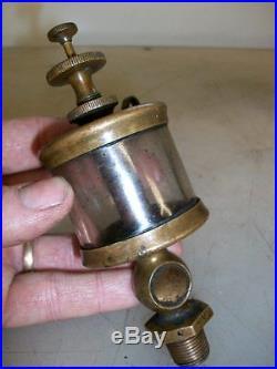 FLAT SIGHT GLASS MICHIGAN LUBRICATOR CO Brass OILER Hit and Miss Gas Engine