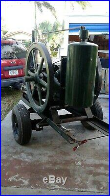 Fairbanks Morse'Z', 15 H. P, Hit and Miss Engine. On Trailer