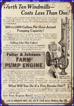 Fuller & Johnson Mfg. Co. Hit & Miss Engine antique 1 1/2 HP 1925 farm pump