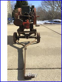 Fuller & Johnson hit and miss antique gas engine with cart