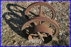 Galloway 5 HP Round Rod Hit Miss Gas Engine Cast Iron Flywheel & Crankshaft Set