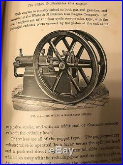 Gas Gasoline Oil Gardner Hiscox Rare 1904 Book Antique Hit And Miss Gas Engine