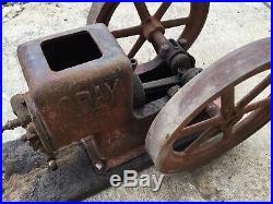 Gray Hit & Miss Engine 1-3/4 HP Antique Farm Engine Flywheel Steam