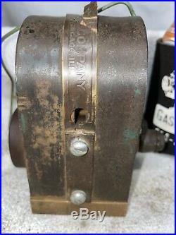HOT Sumter Electrical Co. Low Tension Magneto Hit Miss Gas Engine Brass Base
