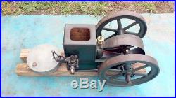 Headless Witte Iron Works Hit Miss Engine Beautiful Original Paint WOW