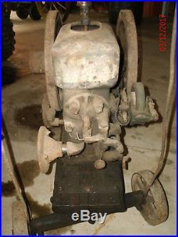 Hercules hit miss gas engine on proper butcherblock cart