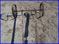 Hit Miss Gas Engine truck cart w 19 wheels