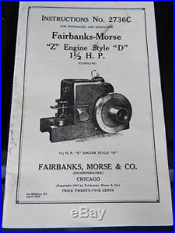 Hit and Miss 20qt Ice Cream Wagon Fairbanks Morse Z 2hp. Manual's included