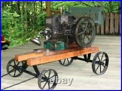 Hit and Miss Engine 1.5 HP antique, runs, pick up only in Bloomington Indiana