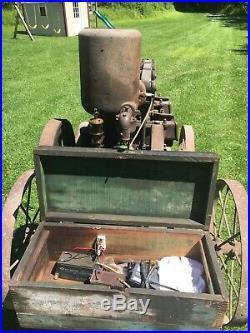 Hit and miss Novo Engine Edson Mfg Comp Trash Pump With Orignal Cart Barn Find