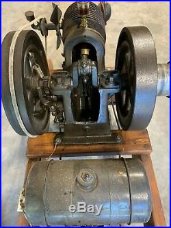 Hit and miss stationary engine