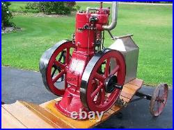 IDEAL 9hp Tank Cooled Hit Miss Gas Engine Ignitor Steam Magneto Oiler Motor WOW