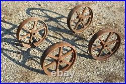 IHC 6 Spoke Cast Iron Wheel Set For Gas Engine Hit Miss Truck