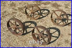 IHC International Spoked Cast Wheels Hit Miss Gas Engine Steam Industrial Cart