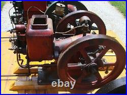 International Harvester, Sattley, Mogul Hit and Miss Engines with trailer