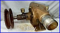 JABSCO Pump Co 1 1/4 WATER GEAR PUMP Belt Brass Hit Miss Gas Engine Farm Antique
