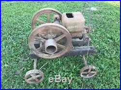 John Deere E 1 1/2 HP Hit and Miss Engine Barn Find On Original Cart For Restore