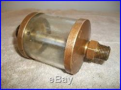 LARGE NOS ROD OILER Hit and Miss Engine Brass Lubricator Steam New Old Stock
