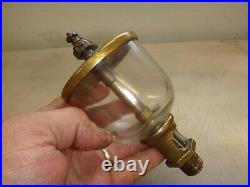 LONERGANS WINE GLASS OILER for OTTO Hit Miss GAS ENGINE Old Brass 3.290 Glass