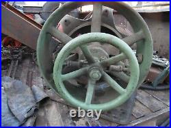 Large Ihc Clutch Pulley Titan, Famous, Mogel Gas Engine Old Motor Part