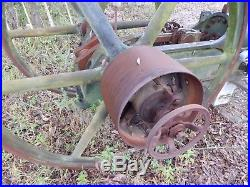 Large hit and miss engine parts bessemer yard art steam punk tractor heavy Penn