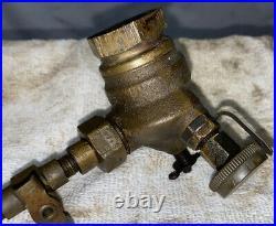Lunkenheimer 3/4 Left Hand Carburetor Fuel BRASS Hit Miss Gas Engine LH Carb