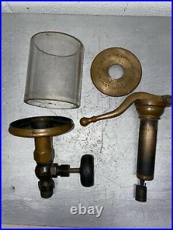 Lunkenheimer ALPHA NO 6 Oiler Hit Miss Gas Engine Antique Steampunk Brass