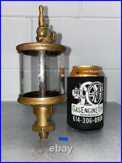 Lunkenheimer PARAGON #5 Style Brass Cylinder Oiler Hit Miss Gas Engine Antique