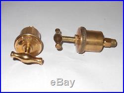 Marine No 0 Lunkenheimer Brass Oiler Greaser Antique Hit Miss Engine Farm PAIR