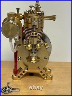Miniature 1/8 scale model Hit and Miss Engine Gas IC Engine 1912 Design Flyball