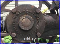 National hit & miss Kalamazoo Engine Water Pump Vtg Industrial Farm Michigan
