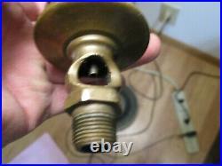Nice Old Brass Lunkenheimer Crown #2 Swingtop Hit Miss Gas Engine Oiler