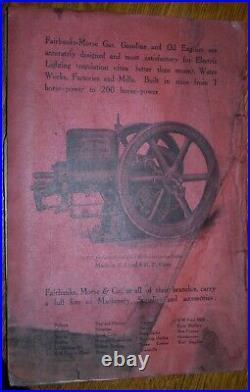 ORIGINAL 1913 Fairbanks Morse Hit Miss Engine Type H Catalog # 2158J 10T Edition